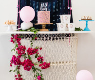 Shibori birthday party ideas