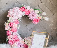 Floral letter birthday decoration