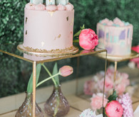Magical pink 1st birthday party