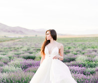 lavender field wedding editorial