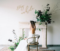 minimal fall wedding decor