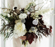 Dark wild wedding bouquet