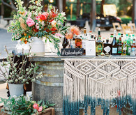 Wedding bar with macrame details