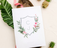 Tropical coral garden wedding invitations