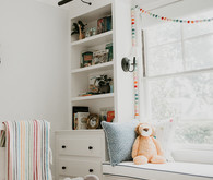 White safari inspired nursery