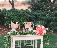Sweetheart table with peonies