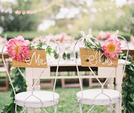sweetheart table with peony chair decoration