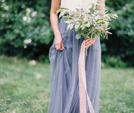 Bridesmaid with two tone dress