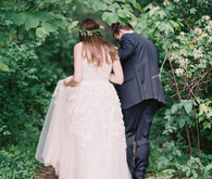 Rustic, organic farmhouse wedding in North Carolina