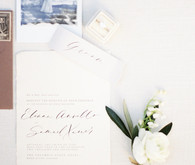 Romantic minimal spring wedding invites
