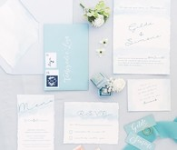 Ocean inspired italian wedding invitations