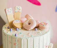 Donut birthday cake
