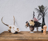 cow skull wedding decor