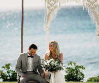 Boho beach wedding Greece