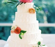 pink tiered wedding cake