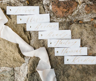 gold calligraphy wedding details