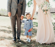 ring bearer in a shorts suit