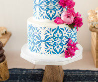 bougainvillea wedding cake