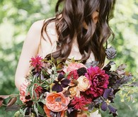 romantic fall bouquet