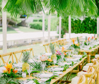 Tropical rehearsal dinner in Athens Greece
