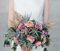 sunset colored bridal bouquet