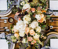 Glam fall tablescape
