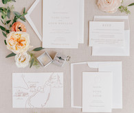 elegant fall wedding invites
