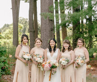 elegant pastel fall wedding at Tyler Arboretum in Philadelphia