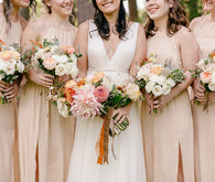 blush bridesmaids dresses for fall wedding