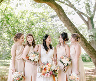 peach bridesmaid dresses for fall