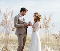 Romantic boho fall Apulia elopement