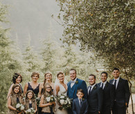 Rustic winter wedding in Oak Glen, CA
