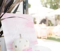 Pink pumpkin baby shower