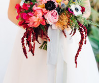 Colorful summer bridal bouquet