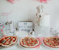 Disco pizza party second birthday