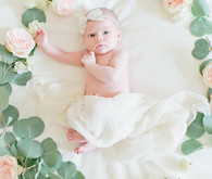 Floral newborn photos on 100 Layer Cakelet