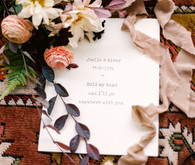 Floral fall forest elopement