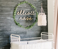 Rustic winter nursery and newborn photos on 100 Layer Cakelet