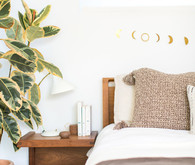 Cozy master bedroom for fall with Coyuchi on 100 Layer Cake
