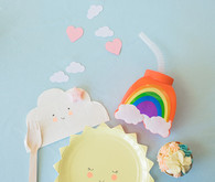 Happy clouds and rainbows 3rd birthday party