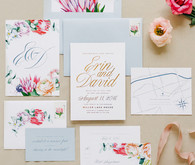 Romantic floral wedding invitations