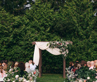 Floral garden wedding in Ontario