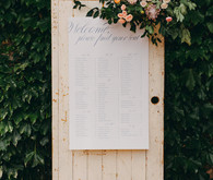 Elegant simple seating chart