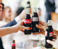 Coke in wedding decor