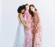Floral fashion-forward wedding editorial