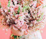 orange floral wedding inspiration