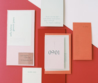 modern color blocked wedding inspiration