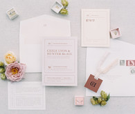spring floral wedding invitations