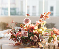 Elegant fall place setting