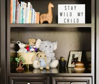 Classic modern boy's nursery and newborn photos